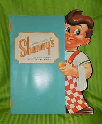 Vintage Shoney's Big Boy menu