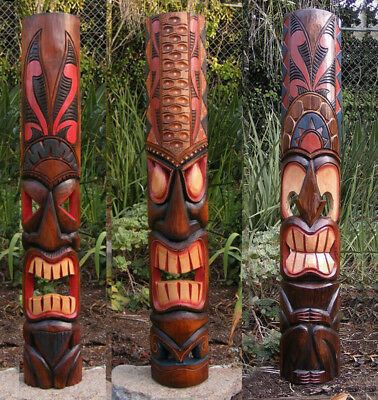 Tribal Tiki Mask Package Deal Set of 3- Patio Tropical Bar 40""