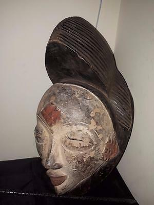 Old Tribal Punu Maiden Spirit Mask Gabon Africa, Fes-0810