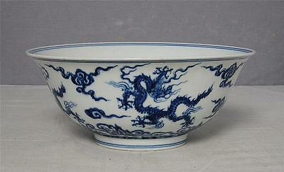 Chinese  Blue and White  Porcelain  Bowl  With  Mark     M2194