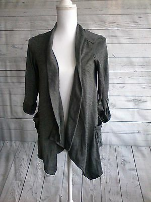 Women's Oh baby by motherhood size M gray cardigan 3/4 sleeve