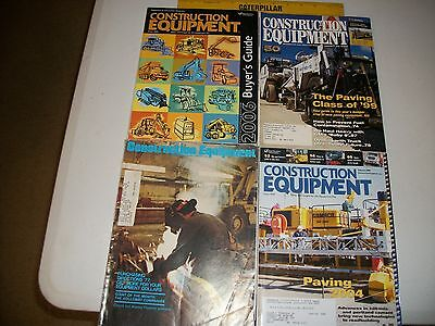 Construction Equipment Magazines Lot of 4 For Users of Heavy Equipment & Trucks