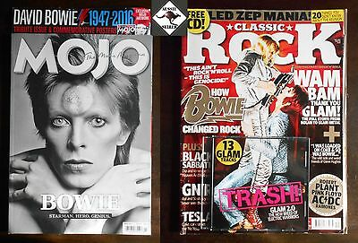 DAVID BOWIE feature Magazines. Mojo & Classic Rock with CD.