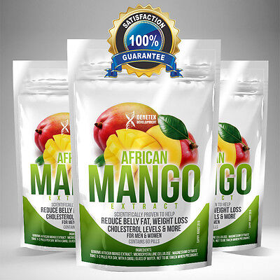 PURE African Mango Extract x 60 Capsules HIGHEST STRENGTH, 2 month supply!