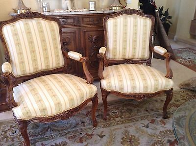 Gorgeous pair of Louis XV french chairs