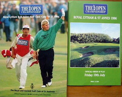 Open Golf Championship 1996 Royal Lytham & St Annes Programme & Order of Play
