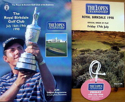 Open Golf Championship 1998 Royal Birkdale Programme Order of Play & Ticket