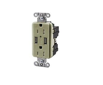 Hubbell Wiring Systems USB15X2I USB Receptacle