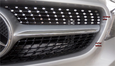 Diamantgrill Folie in Chrom-Optik passend für Kühlergrill Mercedes CLA (C117)