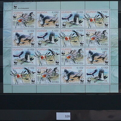 S0 0328 WWF Animals Uganda MNH 2012 Secretary bird
