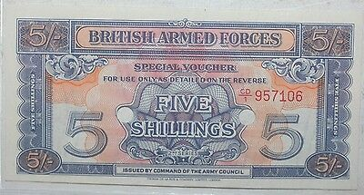 1948 British Armed Forces 5 Shillings, UNC Note