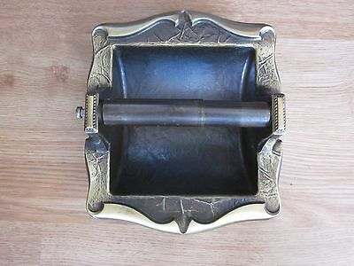 Amerock Carriage House Brass Toilet Paper Holder - Wall Mount Inset - Vintage
