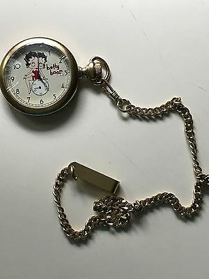 Fossil 1996 Betty Boop Limited Edition Pocket Watch Excellent Condition