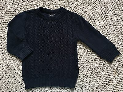 �� Beautiful Next Baby Boy Dark Blue Jumper, Size 18-24m ��