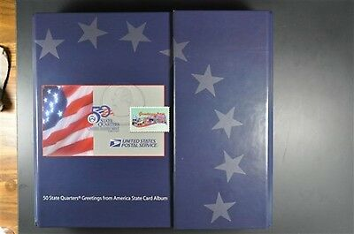 50 State Quarters Greetings from America State Card Album + Stamps 1999 -2007