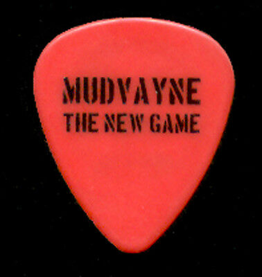 "MUDVAYNE --- Red ""The New Game"" guitar pick"