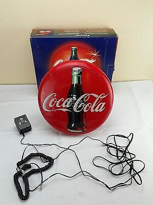1995 Coca-Cola Coke Red Blinking Round Disc Telephone Phone Landline Tested!!