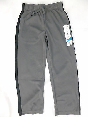 Jumping Beans Boy's Size 6 Athletic Track Jogging Pants Grey Elastic Waist NEW