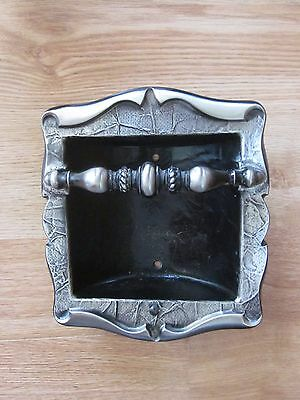 Amerock Carriage House Silver Tone Soap Dish - Wall Mount Inset - Vintage