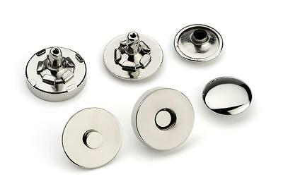 10pcs - 14mm Double Rivet Magnetic Purse Snaps - Nickel -  (MAG-206)