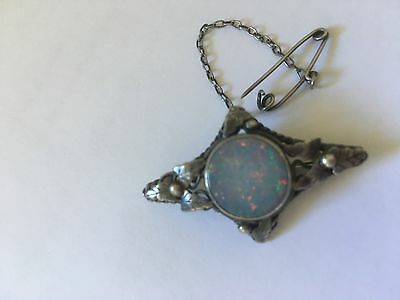 Reduced again!vintage approx 1950's opal brooch sterling silver