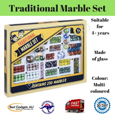 230 Traditional Glass Marbles Marble Set Game