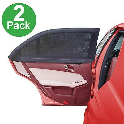 Side Window Sun Shade For Car By Lebogner - Pack of 2 Premium Quality Large B...