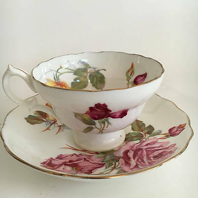 Hammersely Morgan Rose Vintage Teacup Teaset Duo 1950s Tea Cup and Saucer