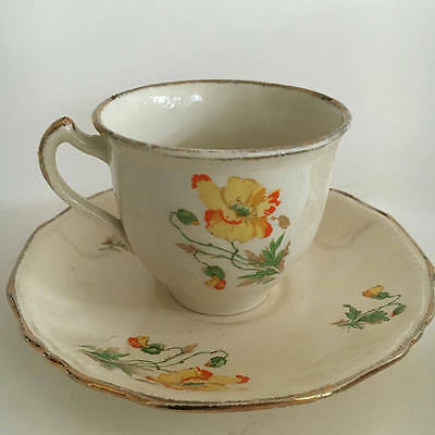 Alfred Meakin Vintage Teaset Poppies with a definite 1930s shabby chic appeal