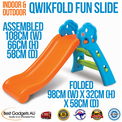 NEW! Qwikfold Fun Slide Kids Indoor And Outdoor Play Slide Easy Assemble!