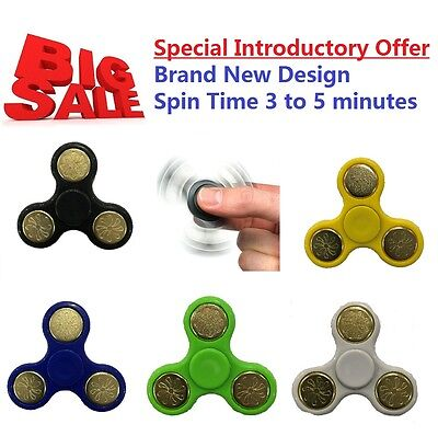 Fidget Finger Bearing Stress Toys Spinner Hand Focus Ultimate Spin Steel EDC UK