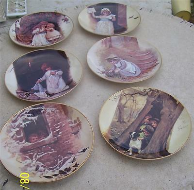 Set 6 X Heritage Collector Plates 'images Of Innocence'