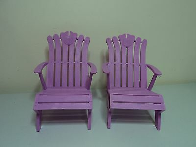 TWO Mattel Barbie teen fashion doll signature OUTDOOR CHAIRS SEATS furniture 1:6