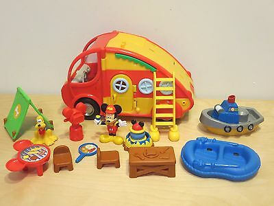 Mickey Mouse Clubhouse RV Camper PlaySet With Accessories with Camping Extras