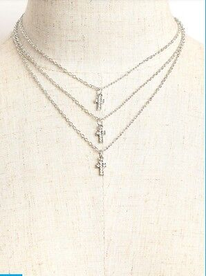 Boho Chic Suede Choker With Cross Necklace