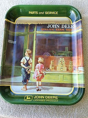 John Deere Set Of 3 Collectible Metal Advertising Painted Sign Art Made In USA