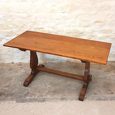 Antique English Oak Refectory Table C1910 (Edwardian Dining Kitchen)