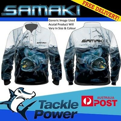Samaki Long Sleeve Fishing Shirt Murray Cod - Adult Sizes - Brand New!