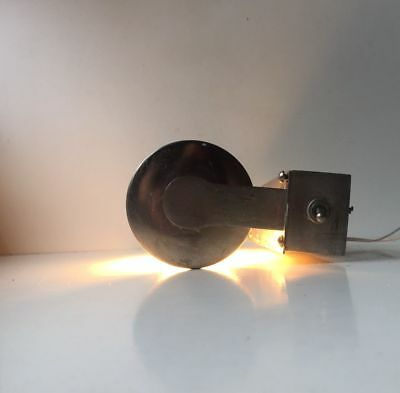 Rare 1940s Art Deco Funkis Wall Lamp Sconce Steel Tubular Wagenfeld Perriand era