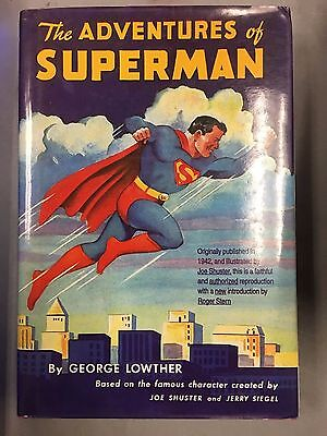 The Adventures Of Superman By George Lowther Hardcover 1995 Reprint Of 1942 Book