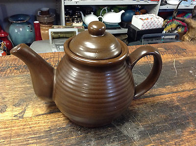 BRT 1980's Retro Pottery Asian Taiwan Dark Brown Bee Hive 4 cup Teapot Superb!