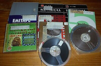 """10 used 7"""" reel to reel tapes of various music ( audio ) tape recorder spools #3"""