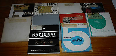 """10 used 7"""" reel to reel tapes of various music ( audio ) tape recorder spools #4"""
