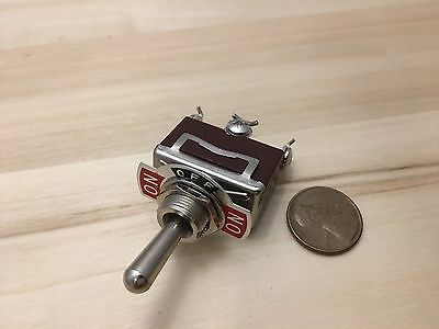 1 Piece - RED 3 PIN momentary Toggle switch (ON)OFF(ON)12v 125v spring return B5
