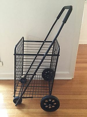 SHOPPING TROLLEY, Large collapsible with Steel Basket X 2 (hardly Used)