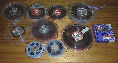 10 used reel to reel tapes of various sizes ( audio ) tape recorder spools #6