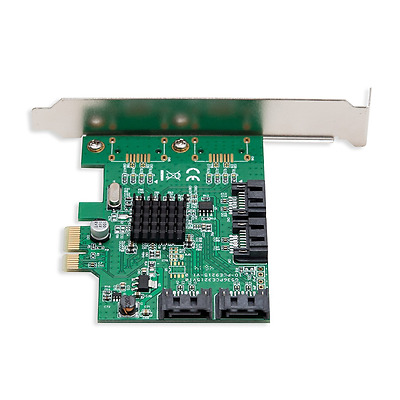 SATA III 4 Port PCI-e x1 Controller Card with Low Profile Brackets Interface NEW