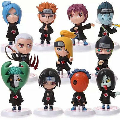 Members Anime Cartoon 11 Pcs Akatsuki Naruto New Shippuden Action Figures PVC