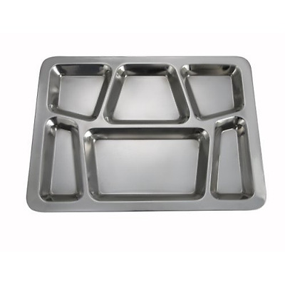 New 6-Compartment Mess Tray 4 Sets 6-Comparment Food slots Dish Meal Holder