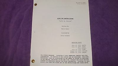 Buffy The Vampire Slayer Script - Dracula - Sarah Michelle Gellar James Marsters